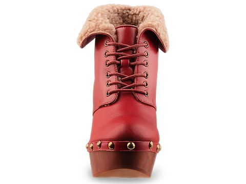 Jeffrey Campbell In Red Leather Denmark