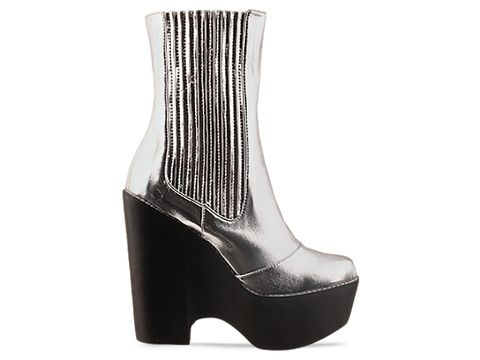 Jeffrey Campbell In Silver Detention