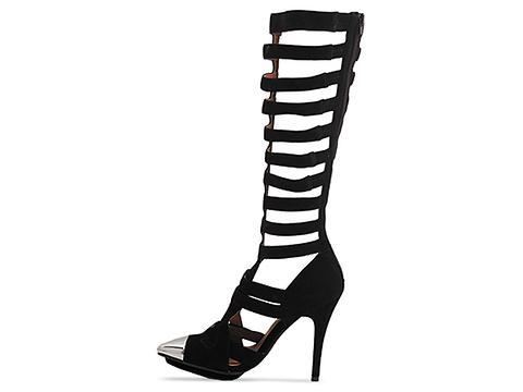 Jeffrey Campbell In Black Suede Silver Dont Ask