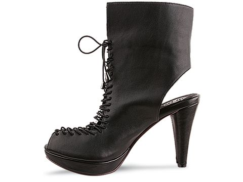 Jeffrey Campbell In Black Leather Doo