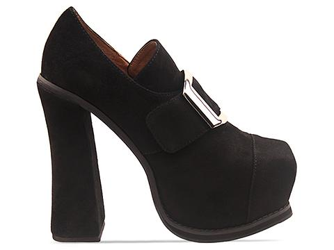 Jeffrey Campbell In Black Suede Dorian