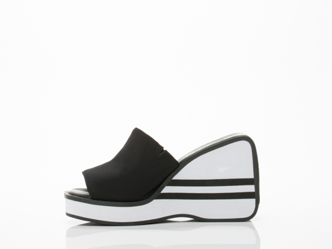 Jeffrey Campbell In Black Neoprene Dragster