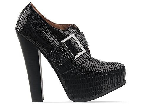 Jeffrey Campbell In Black Lizard Patent Drexel