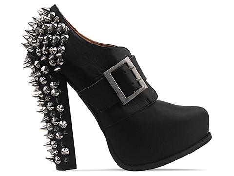 Jeffrey Campbell In Black Distressed Silver Drexel Spike