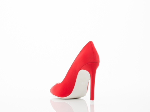 Jeffrey Campbell In Red Neoprene White Dulce