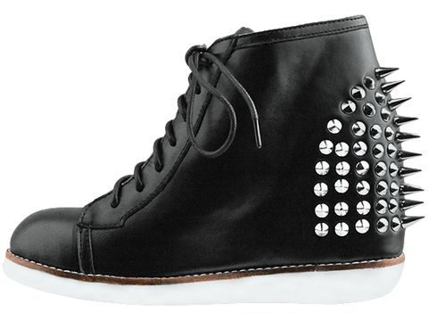 Jeffrey Campbell In Black Leather Edea Spike
