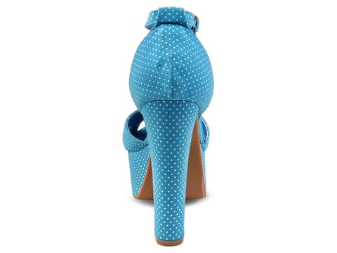 Jeffrey Campbell In Blue White Dot El Carmen