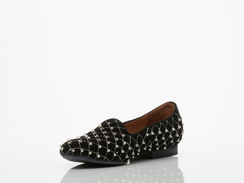 Jeffrey Campbell In Black Suede Silver Elegant Q