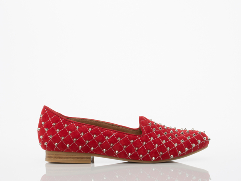 Jeffrey Campbell In Red Suede Silver Elegant Q