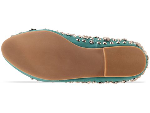 Jeffrey Campbell In Green Silver Elegant Stud