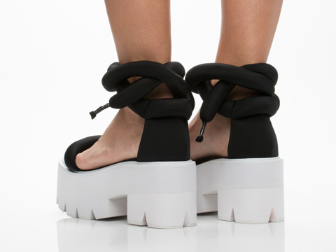 Jeffrey Campbell In Black Neoprene White Elowen