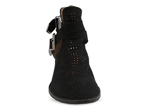 Jeffrey Campbell In Black Punched Nubuck Silver Everly