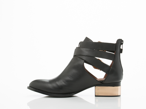 Jeffrey Campbell In Black Gold Everly PL
