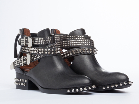 Jeffrey Campbell In Black Washed Silver Everly Spike