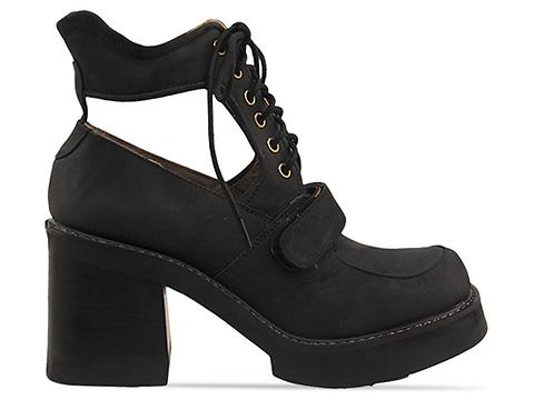 Jeffrey Campbell In Black Distressed Black Exeter