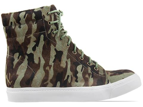 Jeffrey Campbell In Khaki Black Combo Flavia Hi Fur