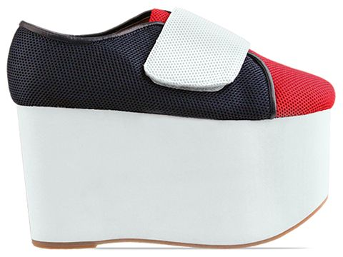 Jeffrey Campbell In Red Blue White Mesh Flubber
