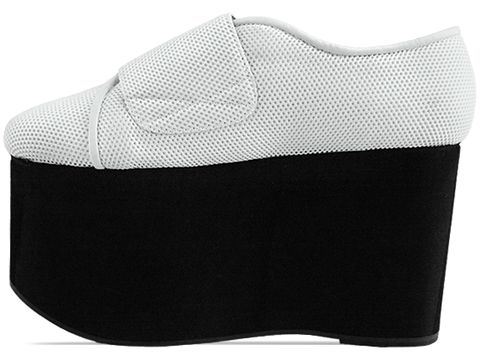 Jeffrey Campbell In White Mesh Black Flubber