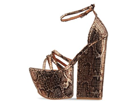 Jeffrey Campbell In Gold Metallic Python For Real