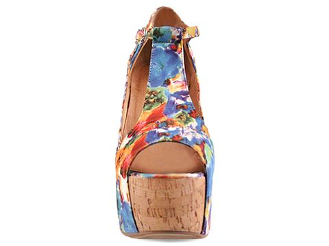 Jeffrey Campbell In Orange Blue Foxy Cork