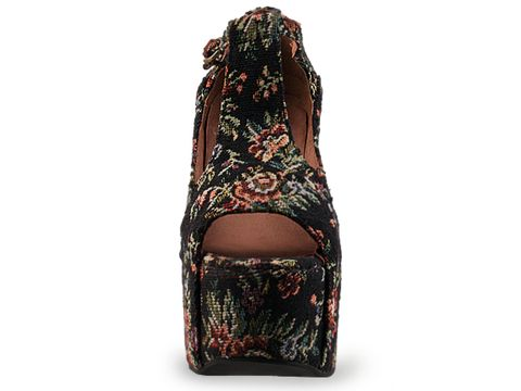 Jeffrey Campbell In Black Tapestry Foxy Fab