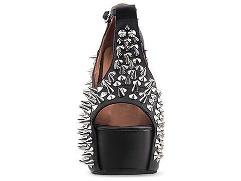 Jeffrey Campbell In Black Silver Foxy Front Spike