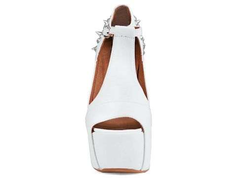 Jeffrey Campbell In White Silver Foxy Spike