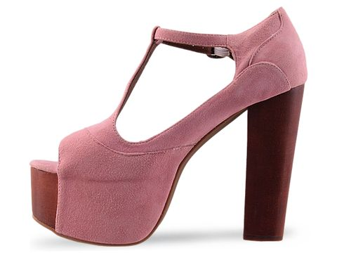 Jeffrey Campbell In Pink Suede Foxy Wood