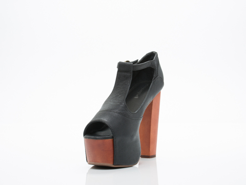 Jeffrey Campbell In Black Foxy Wood 2.0