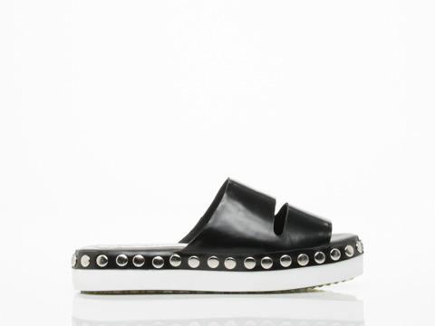 Jeffrey Campbell In Black Patent Silver White Frontera Stud
