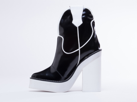 Jeffrey Campbell In Black White Fusion