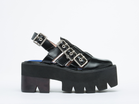 Jeffrey Campbell In Black Shiny Silver Gardner