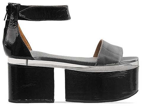 Jeffrey Campbell In Pewter Black Patent Combo Geisha