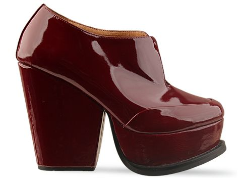 Jeffrey Campbell In Dark Red Patent Gibson