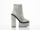 Jeffrey Campbell In Silver Glitter Glamazon
