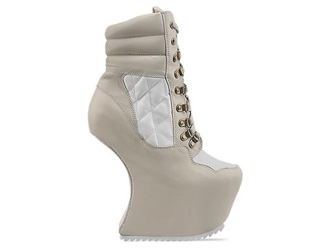 Jeffrey Campbell In Nude White Leather Go Away
