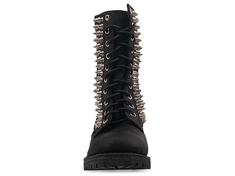 Jeffrey Campbell In Black Distressed Silver Helen Spike