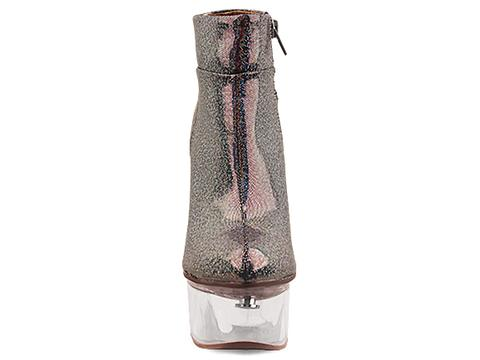 Jeffrey Campbell In Pewter Flash Clear Icy Light
