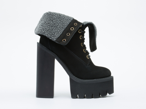 Jeffrey Campbell In Black Nubuck In Charge