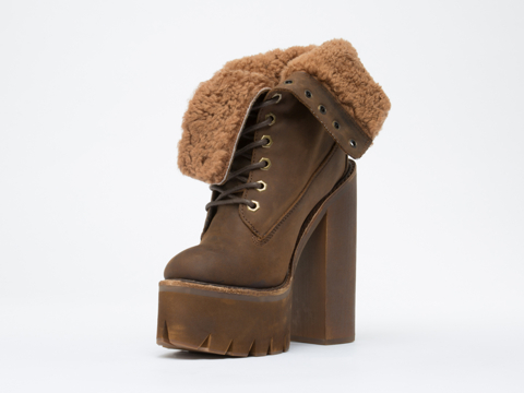 Jeffrey Campbell In Brown Crazy Horse In Charge