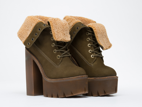 Jeffrey Campbell In Khaki Nubuck In Charge