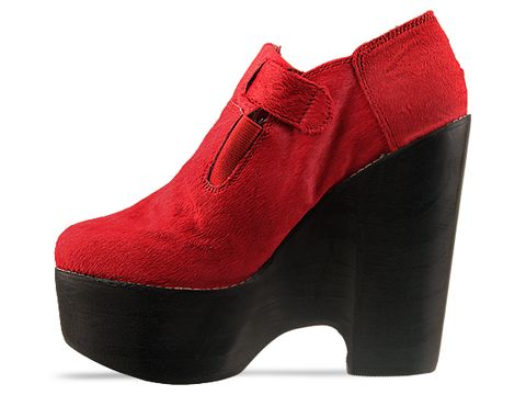 Jeffrey Campbell In Red Pony In Trouble