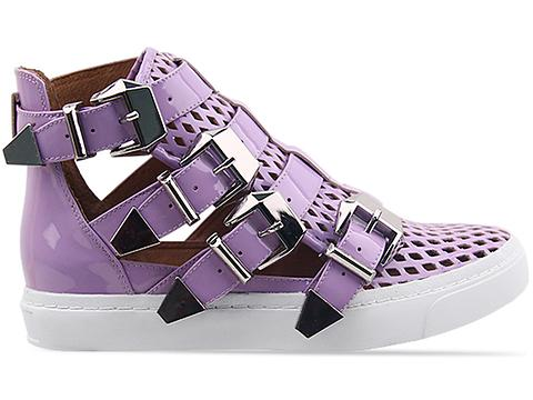 Jeffrey Campbell In Lilac Punched Patent Indie Hi