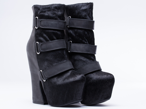 Jeffrey Campbell In Black Hair Black Jovan Fur