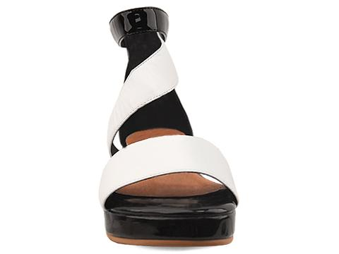 Jeffrey Campbell In White Black Patent Kavala