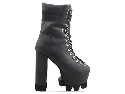 Jeffrey Campbell In Black Washed Kick It