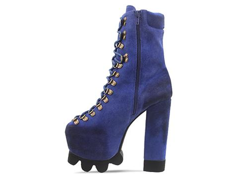 Jeffrey Campbell In Blue Suede Kick It
