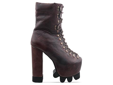 Jeffrey Campbell In Brown Distressed Kick It