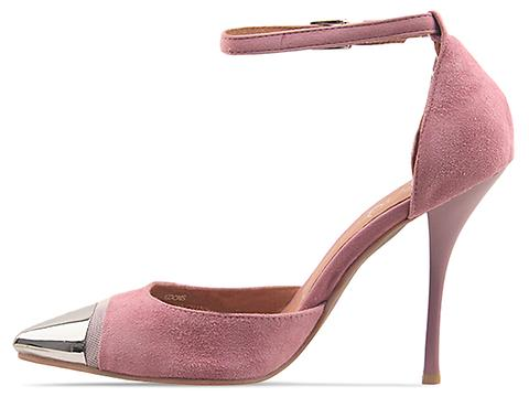 Jeffrey Campbell In Baby Pink Suede Koons
