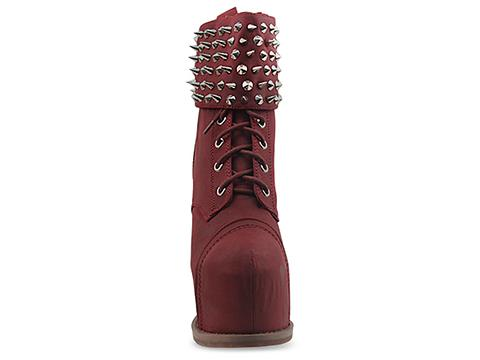 Jeffrey Campbell In Wine Distressed Silver Lautrec Cuff